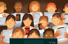 Heavy use of electronic media can have significant negative effects on children's behavior, health and school performance. (Illustration: Paul Rogers)