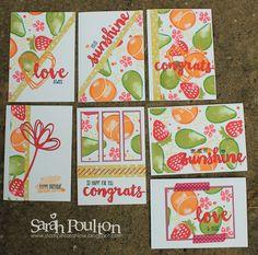 Stampin' Sarah!: A Fresh Fruit One Sheet Wonder Gift Set from Stampin' Up! UK Demonstrator Sarah Poulton