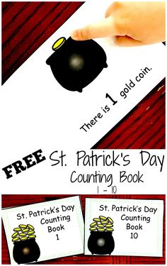 FREE Saint Patrick's Day Counting Books for Preschool Children