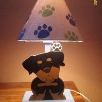 Dog lamp for kids room decor