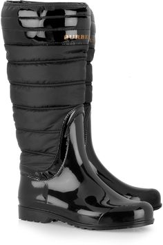 BURBERRY  Quilted patent-rubber Wellington boots