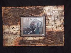 8 x 10 Wood-Metal industrial Frame on Etsy, $145.00