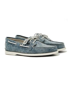 Sperry A/O 2-Eye White Cap Canvas Boat Shoe Navy // ON
