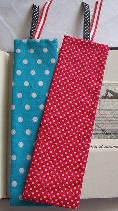 patriotic US fabric bookmarks