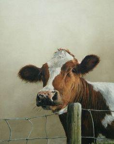 Inspiration for pastel painting. Farm Animals, Cute Animals, Cow Pictures, Cow Painting, Cute Cows, Cow Art, Wildlife Art, Animal Paintings, Beautiful Paintings