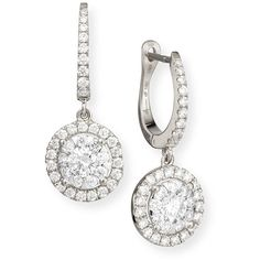 Memoire Bouquet 18k White Gold Diamond Dangle Earrings (136 795 UAH) ❤ liked on Polyvore featuring jewelry, earrings, diamond, post earrings, white gold dangle earrings, hoop earrings, pave diamond earrings and white gold diamond earrings