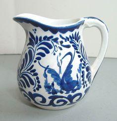 Anfora Pottery-   Blue/White Creamer
