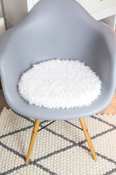 Chair cushions in white suitable for Eames by PomponettiInterior