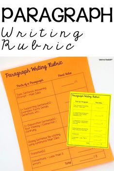 The purpose of a paragraph writing rubric is to give students a checklist. This checklist will tell students what is expected to be included in a well written paragraph. Teaching Paragraphs, Paragraph Writing, Teaching Writing, Essay Writing, Writing Rubrics, Opinion Writing, Persuasive Writing, How To Teach Writing, Teaching Punctuation