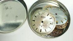 Vintage mens mechanical watch movement parts lot Benrus Sea Lord Technos #16D