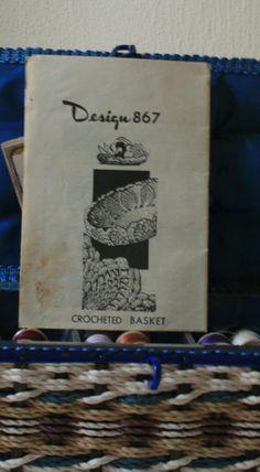 1950s mail order Vintage crochet pattern for basket Design 867 by FadedPrimaDonnaVntg on Etsy