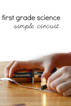 Easy circuit science project with materials you already have.