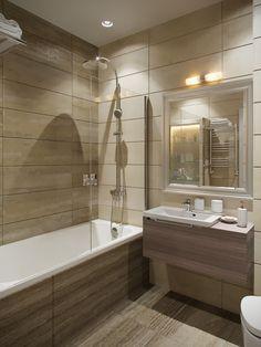 Ванная комната - Дизайн однокомнатной квартиры 46 кв.м. в стиле современной классики, ЖК Лиственный