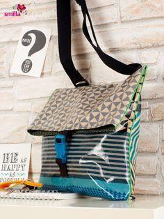 Diese Tasche sieht einfach toll aus und ist das ideale Modell, das auch Anfänger hinbekommen. Nähanleitung auf dem Blog von smillaBerlin.