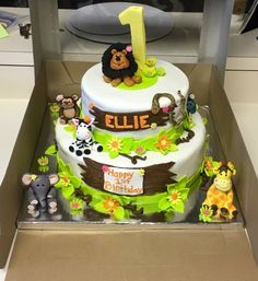 Jungle theme cake  (creation by Sugar&Share, Half Moon Bay)