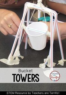 STEM Challenges: This amazing challenge uses one basic material- Straws! Add a few more items and see if your students can build a suspended bucket that will hold weight! Make sure you follow the constraints- the bucket cannot be attached!