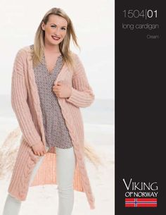 Long Ribbed Cardigan with Cable Edge Free Knitting Pattern