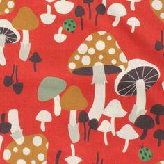 Kokka Japanese Mushroom Grove Fabric