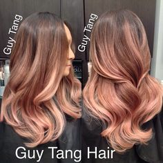Guy Tang - Romantic rose blonde ombre #ombre #ombrehair #californianas #balayage