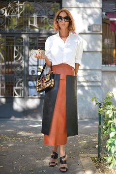 Street-Style Beauty Mailand September 2015 // Kupferfarbener Bob