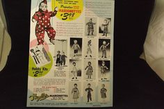 Here is a 1954 product sales brochure that was included inside the box for the Suzybell clown I purchased today.  This is the first copy of this brochure that I have.  It arrived in the mail on February 3, 2015.