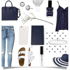 How To Wear Blue & White Outfit Idea 2017 - Fashion Trends Ready To Wear For Plus Size, Curvy Women Over 20, 30, 40, 50