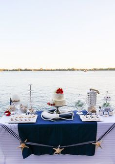 From the anchor-adorned invitations to the life preserver-topped dessert table, this styled shoot is sure to inspire you.