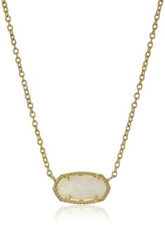 Kendra Scott 'Signature' Elisa Gold White Mother-Of-Pearl Pendant Necklace ** Continue to the product at the image link.