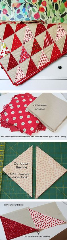 Free Seeing Red Quilt Tutorial