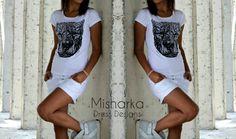 Hand-painted T-shirt Misharka Ръчно рисувана тениска Misharka
