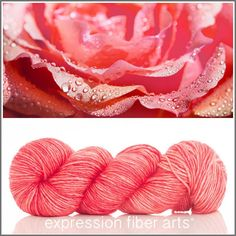new yarn! Expression Fiber Arts - ROSES IN THE RAIN SUPERWASH MERINO SILK PEARLESCENT WORSTED, $30.00 (http://www.expressionfiberarts.com/products/roses-in-the-rain-superwash-merino-silk-pearlescent-worsted.html)