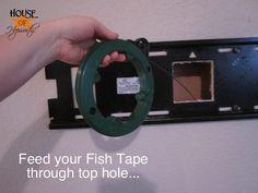 How to hide TV wires with wall bracket Hide Tv Wires, Hide Tv Cables, Tv Cords, Hiding Wires, Montage Tv, Best Tv Wall Mount, Swivel Tv Stand, Tv Wand, Hidden Tv