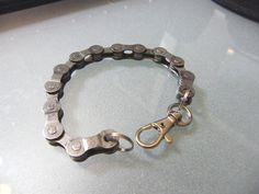 Recycled Bike Chain Bracelet by BeachBMXDesigns on Etsy, $7.00
