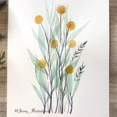 Flowers tutorial - Photography İdeas,Photography Poses,Photography Nature, and Vintage Photography, Watercolor Cards, Floral Watercolor, Watercolor Sunflower, Watercolor Trees, Easy Watercolor, Watercolor Landscape, Watercolor Paintings For Beginners, Watercolor Art Paintings, Watercolor Artists