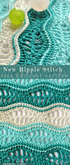 New #RippleStitch #FreeCrochetPattern