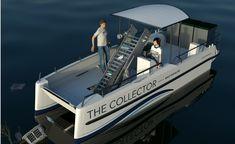 catamaran de collecte