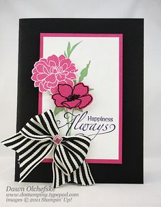 Happiness Flowers by dostamping - Cards and Paper Crafts at Splitcoaststampers