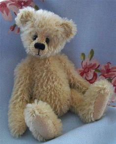 mohair teddy bear with sweet face