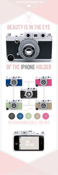 Camera iPhone case - Unique and awesome gift idea for that iPhone/photography nerd in your life!