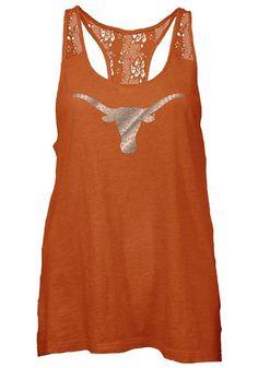 Texas Longhorns Womens Tank Top - Texas Orange Texas Periwinkle Sleeveless Shirt http://www.rallyhouse.com/shop/texas-longhorns-pressbox-22640096 $29.99