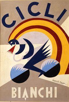 -Fortunato Depero- Foi uma representação influenciada pelo cubismo, onde se salienta a elementaridade e a simplificação, e a agressividade das formas em zig-zag. Era representado o instantâneo do movimento