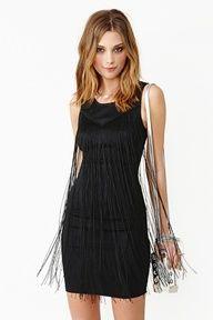 Fallen Fringe Dress