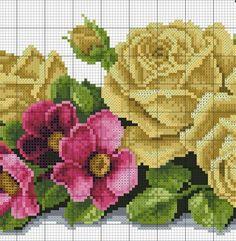Victoria - Handmade Creations : Κεντημένο μπουκέτο με τριαντάφυλλα