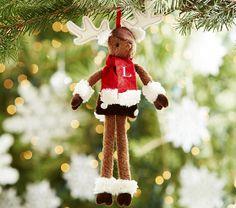 Plush Reindeer Ornament   Pottery Barn Kids