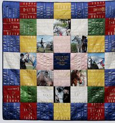 Horse show ribbon quilt. I don't want to throw them out, but seriously, they sit on a hanger in my wardrobe. Perhaps this is a way of gaining some practicality out of all those years of tantrums behind the horse float. Horse Ribbon Display, Show Ribbon Display, Horse Show Ribbons, Display Case, Ribbon Projects, Ribbon Crafts, Sewing Projects, Ribbon Diy, Sewing Tips
