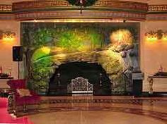 West Baden Springs Hotel Fireplace with Stone Surround