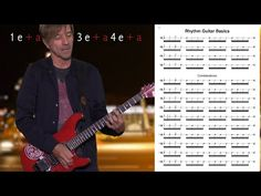 Guitar Exercise: 16th Note Rhythm Guitar Basics by Guitar Lovers - YouTube