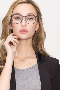 88b9d9b20fe Naomi Matte Blue Plastic Eyeglasses from EyeBuyDirect. Exceptional style