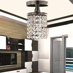 OOFAY LIGHT Flush Mount Light Crystal Electroplated Simple Modern Fashion with crystal ball drop