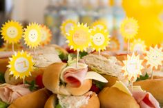 Sandwiches at a Sunshine Party #sunshine #partyfood